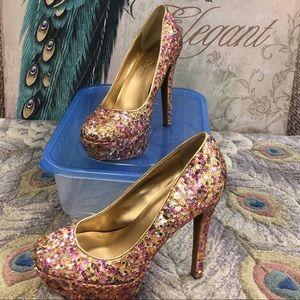 Sequined Jessica Simpson heels